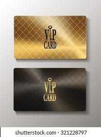 Gold metallic textured cards