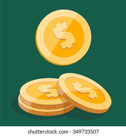 Penny Coins Piles Images, Stock Photos & Vectors   Shutterstock