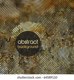 Gold Mosaic Abstract Vector Background