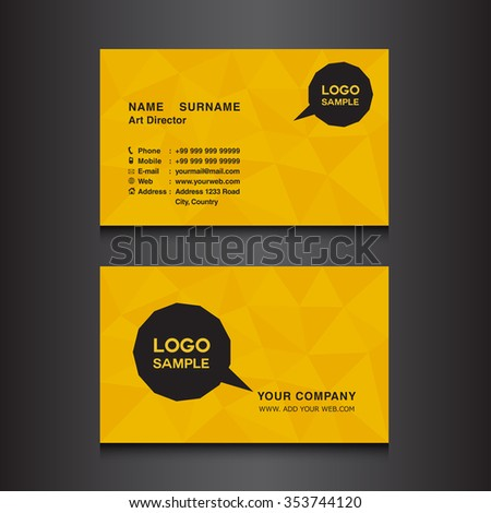 gold name card design template vector stock vector royalty free