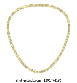 Gold necklace icon. Cartoon of gold necklace vector icon for web design isolated on white background