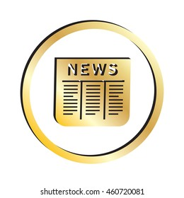 Gold Newspaper Icon