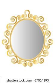 Gold Ornate Mirror or Frame