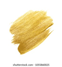 Gold Paint Glittering Textured Art Illustration. Vector Illustration. EPS10