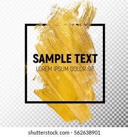 Gold Paint Glittering Textured Art. Vector Illustration EPS10