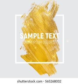 Gold Paint Glittering Textured Art Illustration. Vector Illustration EPS10