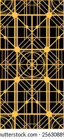 Gold pattern art deco