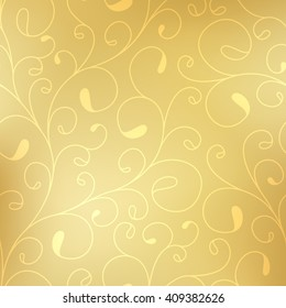 Gold pattern background. Luxury gold pattern.