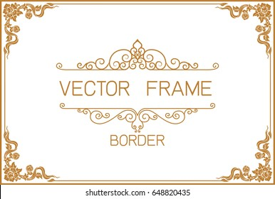 gold border design frame photo template stock vector royalty free