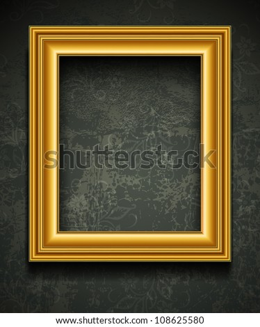 Gold Photo Picture Frame Vector Ornate Stock Vector Royalty Free