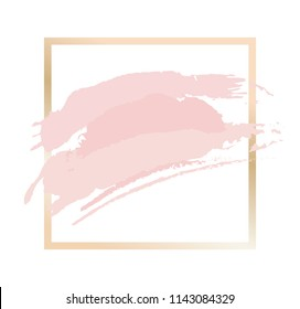Gold and pink frame for party invitations