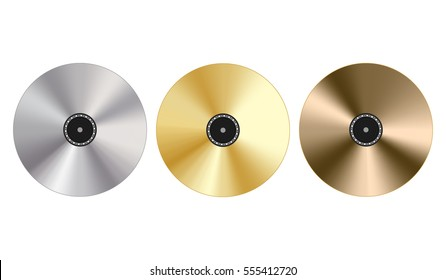 Gold, platinum and bronze record award
