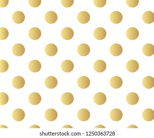 Gold polka dots pattern, colorful background - vector abstract background