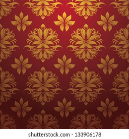 Gold and Red Pattern