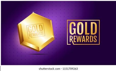 Rewards Gold Images, Stock Photos & Vectors | Shutterstock