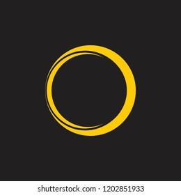 gold ring dimensional design logo