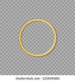 Gold ring on transparent background