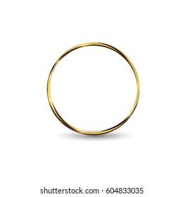 gold ring.on a white background.beautiful for women. Vector light circles and sparks lighting effect