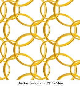 gold rings. Geometric seamless pattern,texture. Vector illustration.