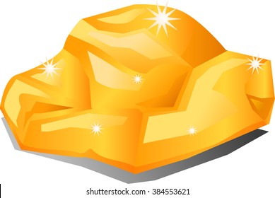 Gold rock or nugget vector illustration