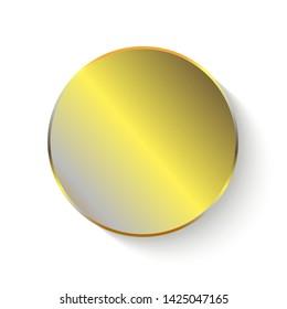 Gold round sticker isolated decor
