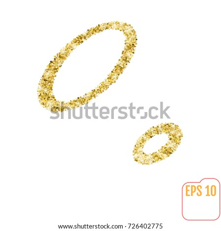 Gold Rush Gold Alphabetic Letter O Stock Vector (Royalty Free