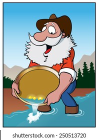Gold Rush / A prospector pans for gold