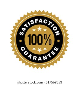 Gold Satisfaction Guarantee Emblem Seal