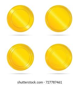 gold seals set illustration on white