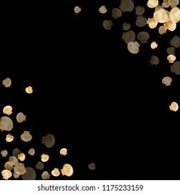 Gold seashells vector, golden pearl bivalved mollusks. Sea scallop, bivalve pearl shell, marine mollusk isolated on black wild life nature background. Stylish gold sea shell vector.