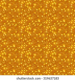 Gold shining dots background. Network concept. Shining texture. Vector illustration for graphic design.