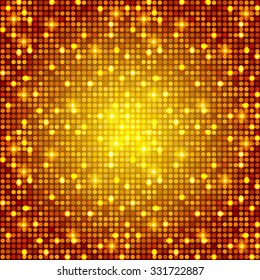 Gold Show Background. Shining Disco & Party Design. Casino Template. Vector illustration