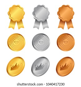 Gold Silver Bronze Medals Images Stock Photos Vectors Shutterstock