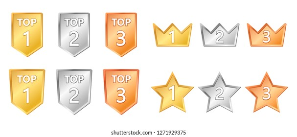 gold silver copper top quality sale icon. Vector illustration.