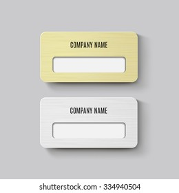 Gold Name Tag Images, Stock Photos & Vectors | Shutterstock