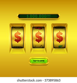 Gold slot machine background.