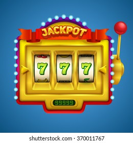 Gold slot machine illustration.