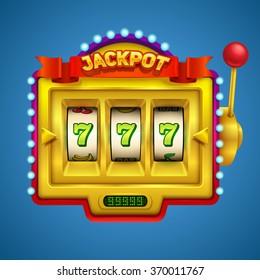 Gold slot machine illustration.