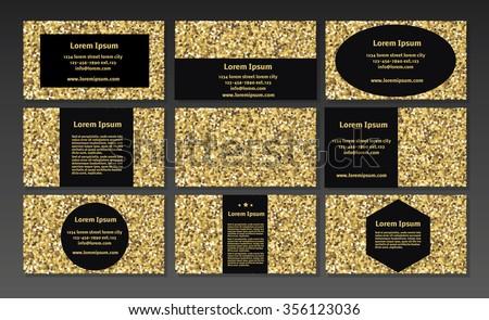 Gold sparkle business cards certificate voucher stock vector gold sparkle business cards certificate voucher banners privilege store gold banner colourmoves