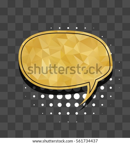 Gold Sparkle Comic Text Bubble Oval Stock Vector (Royalty Free