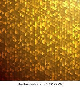 Gold sparkle glitter background.Glittering sequins mosaic pattern.