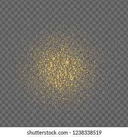 Gold sparkles isolated on transparent background. Gold glitter pattern. Luxury background for card, vip, exclusive, certificate, gift, luxury, privilege, voucher, store, present, shopping