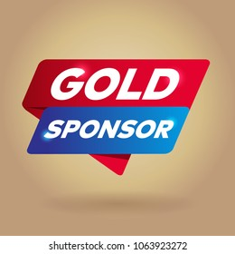 GOLD SPONSOR arrow tag sign.