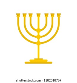 Gold stand for candle icon. Flat illustration of gold stand for candle vector icon for web design
