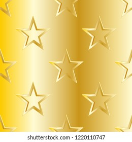 gold star 2d background as vector