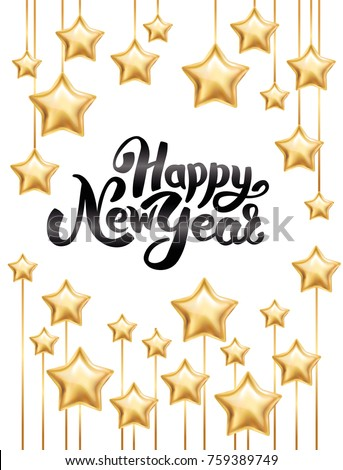 gold star happy new year invitation background banners christmas banner with text