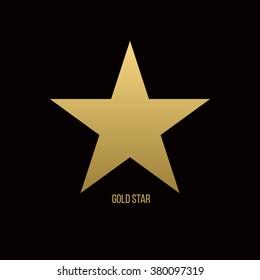 Gold star, icon star, logo star