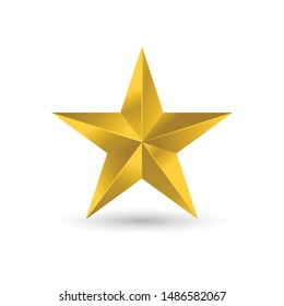 Gold star icon,Star icon vector. Classic rank isolated. Trendy flat favorite design.