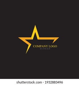 Gold Star Logo and Symbol Vector