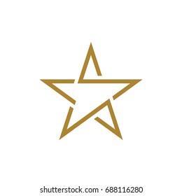 Gold star logo template